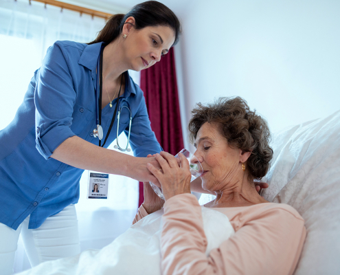 LTSS caregiver and patient
