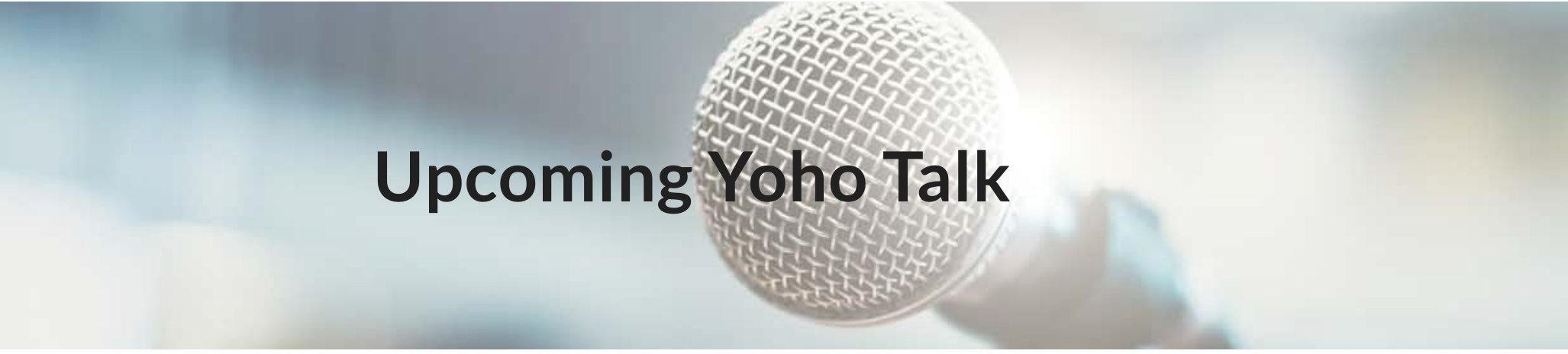 Yoho talk with Sara Zeff Geber
