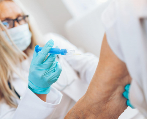 unvaccinated caregivers in long-term care